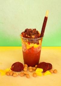 Chamoyada - tangy, fresh Mexican mango and chamoy.
