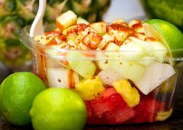 Pico de Gallo - a unique and delicious fresh fruit and veggie salad combination.