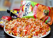 Tostitos Preparados - Tostitos chips topped with whatever you want. Often topped with cucumbers, salsa, cheese, and a variety of other choices.